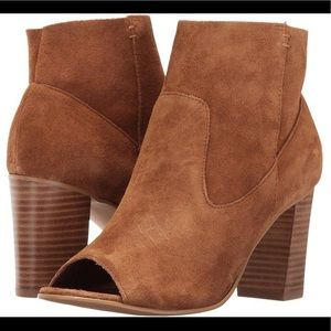Steve Madden Melena Opened Toe Leather Booties 8.5